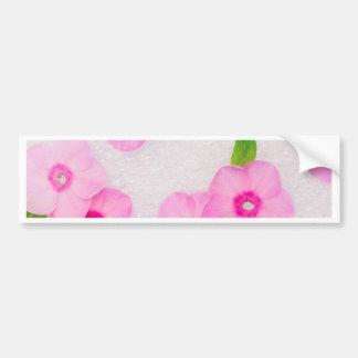 little pink flowers bumper sticker