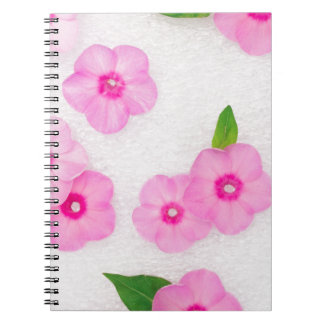 little pink flowers notebook