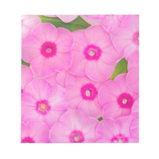 little pink flowers notepad
