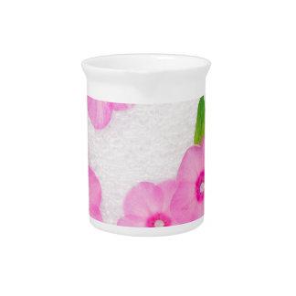 little pink flowers pitcher