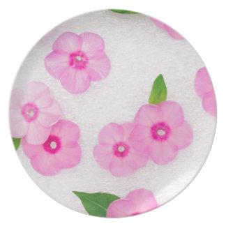 little pink flowers plate