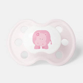 Little Pink Hippo | Baby Pacifier for Girl