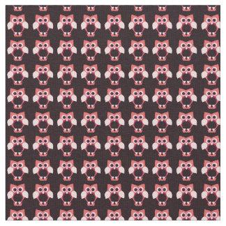 Little pink owls Saint Valentine's day pattern