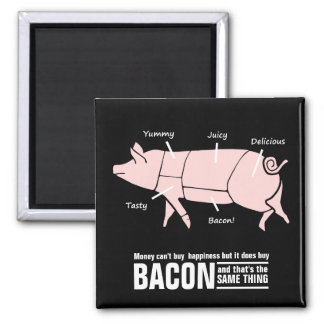 Little Pink Piggie with Tasty Labels Square Magnet