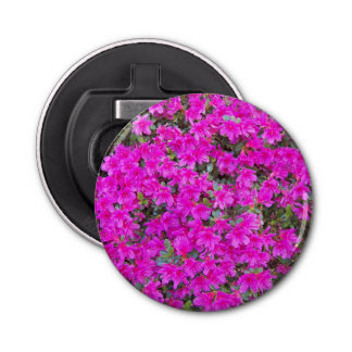 Little Pink Rhododendrons Floral Bottle Opener