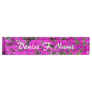 Little Pink Rhododendrons Floral Nameplate
