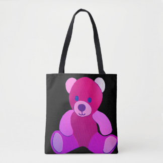 Little pink Teddy Bear Tote Bag