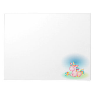 Little Pink Unicorn Notepad