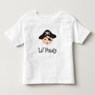 Little pirate kids t-shirt with cartoon boy