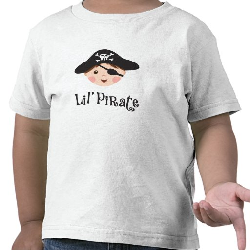 Little pirate kids t-shirt with cartoon boy