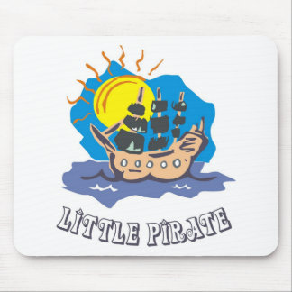 Little pirate toddler on a sailboat on the sea mouse pad