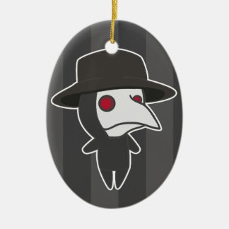 Little Plague Doctor Ceramic Oval Decoration