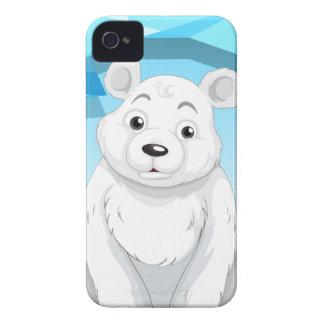 Little polar bear sitting on ice iPhone 4 Case-Mate case