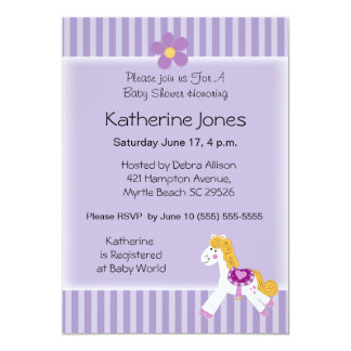 "Little Pony 5"" X 7"" Invitation Card"