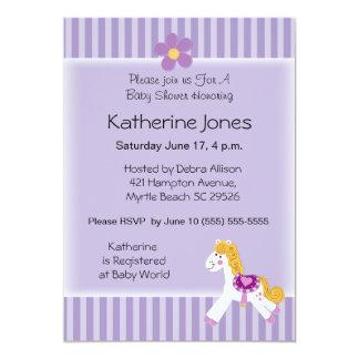 Little Pony 5x7 Paper Invitation Card