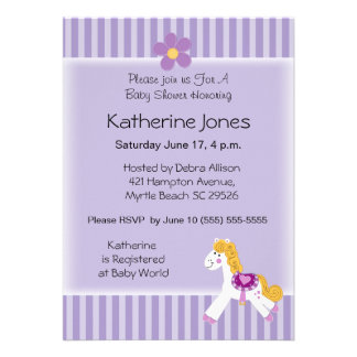 Little Pony Personalized Invite