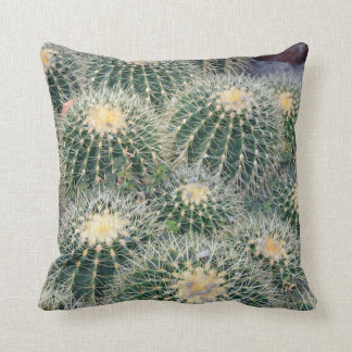 Little prickly cactus throw pillow