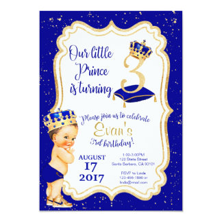 Little Prince Birthday Invitation- 3rd Birthday Card