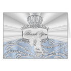 Little Prince Diamond Baby Shower Thank You Card