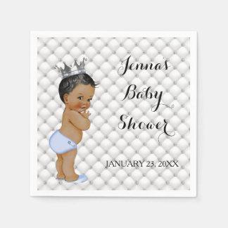 Little Prince Ethnic Baby Boy Diamonds Glam Paper Napkins