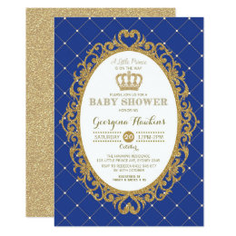 Prince 1st birthday invitations announcements zazzle prince boy birthday invitation 317 little prince royal blue gold baby shower invite filmwisefo Choice Image