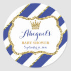 Little Prince Sticker, Royal Blue Faux Glitter Classic Round Sticker