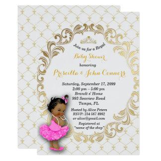 Little Princess Baby Shower Invitation,grey Card
