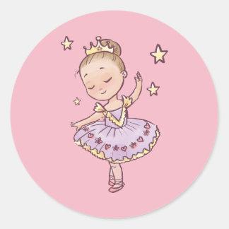 Little Princess Ballerina Classic Round Sticker
