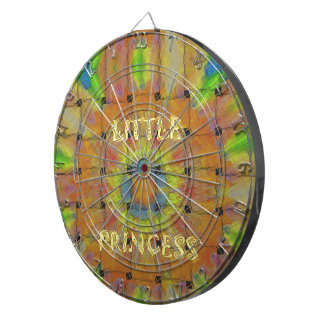 Little Princess Beautiful  colors Design Dartboard With Darts