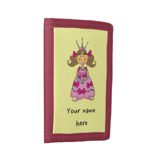 little princess (brown hair) tri-fold wallet