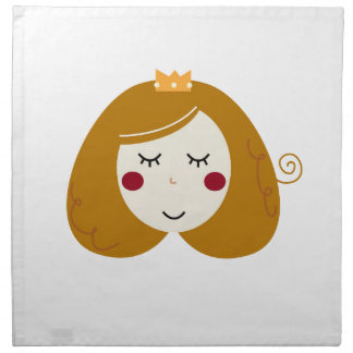 Little princess design on white napkin