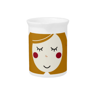 Little princess design on white pitcher