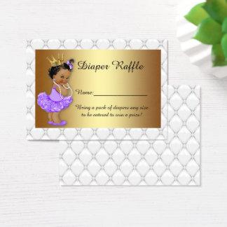 Little Princess Diaper Raffle Tickets, balerina 3 Business Card
