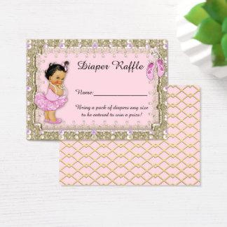 Little Princess Diaper Raffle Tickets, balerina Business Card