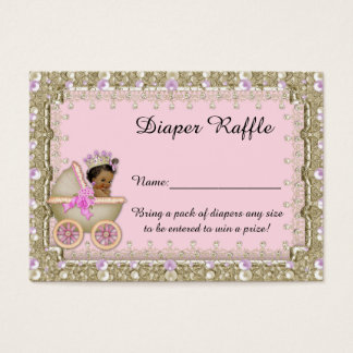 Little Princess Diaper Raffle Tickets, carriage Business Card
