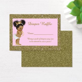 Little Princess Diaper Raffle Tickets, Etnic Business Card