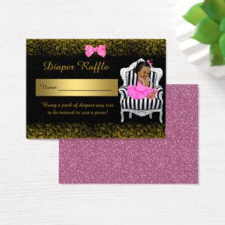Little Princess Diaper Raffle Tickets, glitterpink Business Card