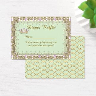Little Princess Diaper Raffle Tickets, mint Business Card