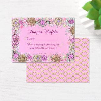 Little Princess Diaper Raffle Tickets, pink Business Card