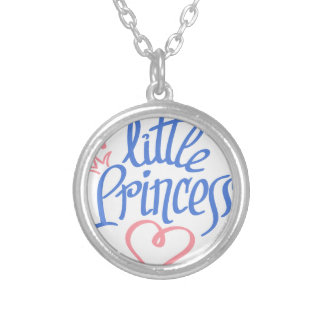 little princess heart design silver plated necklace