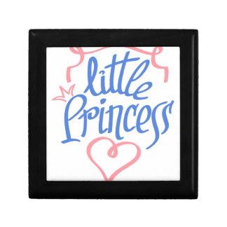 little princess heart design small square gift box