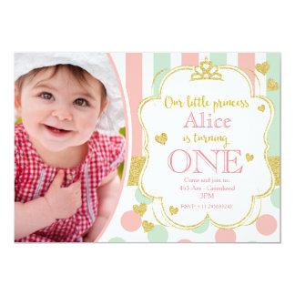 Little princess invitation card 1st birthday