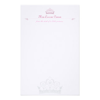 Little Princess Personalised Note-paper Stationery