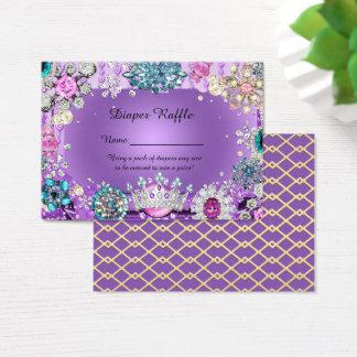 Little Princess Prince Diaper Raffle Tickets,purpl Business Card