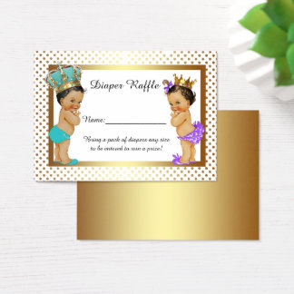 Little Princess Prince Diaper Raffle Tickets, twin Business Card