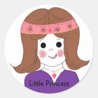 Little Princess Round Sticker