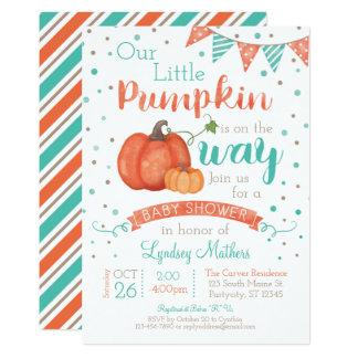 Little Pumpkin Autumn Fall Baby Shower Invitation