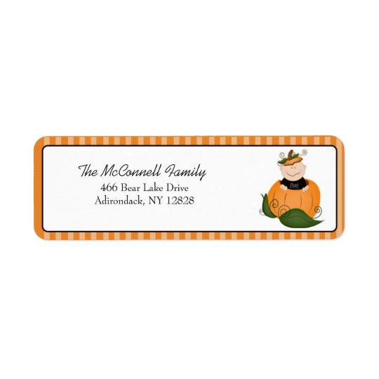 LITTLE PUMPKIN BABY ADDRESS LABELS (Sheet of 30)