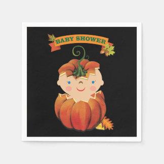 Little Pumpkin Baby Shower Napkins Disposable Serviette