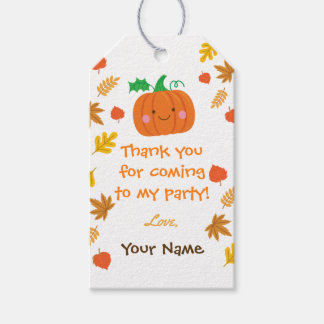 Little pumpkin favour tags